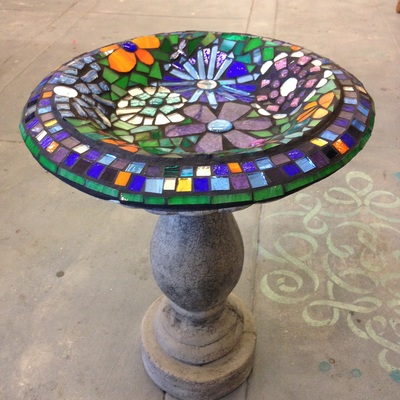 student created mosaics fused glass and stained glass projects